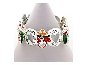 Christmas Charm Stretchable Bangle Bracelet