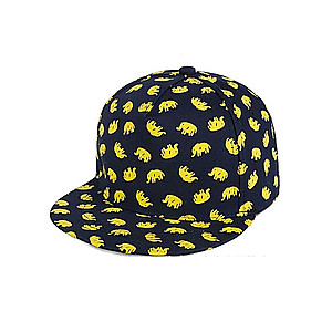 Navy & Yellow Elephant Celebrity Style Snapback Hat Cap for Men and Women