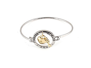 Heart Lock Bangle Bracelet