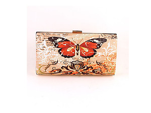 Black Butterfly Fashion Clutch Bag Evening Bag