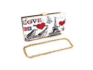 Off White Love Fashion Clutch Bag Evening Bag