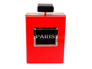 Red Luxury Perfume Bottle Shaped Clutch Evening Bag