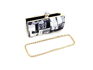 Beige Fashion Clutch Evening Bag