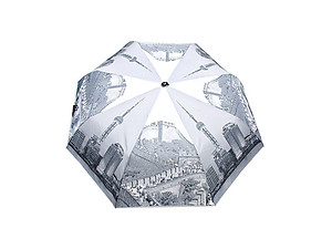 Great Wall of China Printed Automatic Open Folding Umbrella