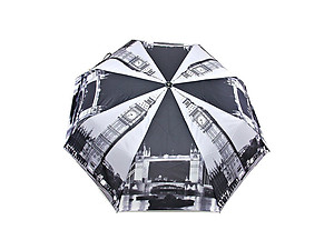 London Big Ben Printed Automatic Open Folding Umbrella