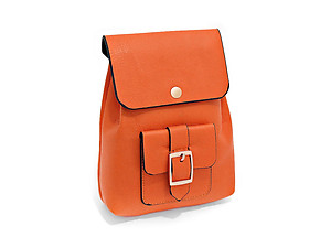 Orange Buckle Pocket Crossbody Mini Backpack Shoulder Bag