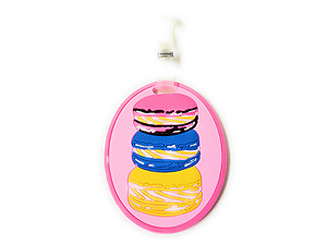 Pink Burger Stack ~ Travel Suitcase ID Luggage Tag and Suitcase Label