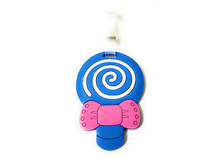 Blue Lollipop ~ Travel Suitcase ID Luggage Tag and Suitcase Label