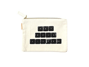 Small Cotton Canvas Cosmetic Zipper Eco Pouch Bag