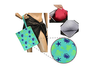 Water Resistant Sea Animal Wet Bikini Beach Clutch Bag