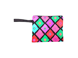 Water Resistant Ikat Diamond Wet Bikini Beach Clutch Bag