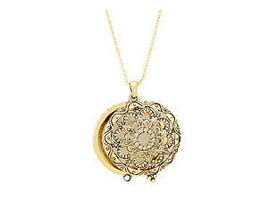 Antique Patterned Magnifying Glass Pendant  Long Necklace (Style 1)