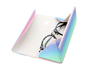 Colorful & Fun Bling Slim Hard Shell Foldable Eyeglass Case