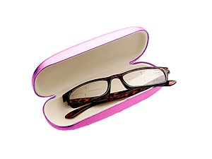 Colorful Metallic Look Small Hard Clamshell Eyeglass / Sunglass Case