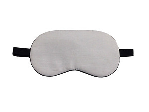 Gray Reusable Hot/Cold Eye Mask & Soothing Gel Pack for Sleep or Travel