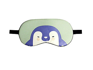 Mint Penguin Reusable Hot/Cold Eye Mask & Soothing Gel Pack for Sleep or Travel