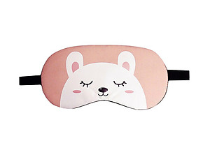 Pink Bunny Reusable Hot/Cold Eye Mask & Soothing Gel Pack for Sleep or Travel