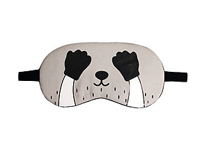 Gray Racoon Reusable Hot/Cold Eye Mask & Soothing Gel Pack for Sleep or Travel