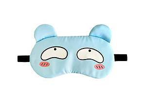 Blue Animal Reusable Hot/Cold Eye Mask & Soothing Gel Pack for Sleep or Travel