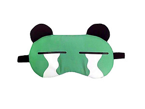 Green Animal Reusable Hot/Cold Eye Mask & Soothing Gel Pack for Sleep or Travel