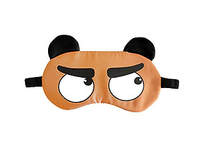 Orange Animal Reusable Hot/Cold Eye Mask & Soothing Gel Pack for Sleep or Travel