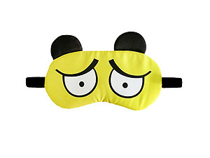 Yellow Animal Reusable Hot/Cold Eye Mask & Soothing Gel Pack for Sleep or Travel