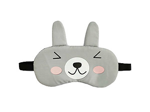 Gray Bunny Reusable Hot/Cold Eye Mask & Soothing Gel Pack for Sleep or Travel