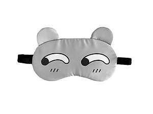 Gray Animal Reusable Hot/Cold Eye Mask & Soothing Gel Pack for Sleep or Travel