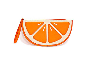 Women's Fun & Fashionable Orange Fruit Slice Clutch Bag