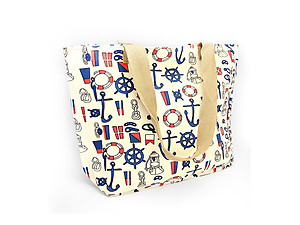 Ivory Anchor Print Tote Bag
