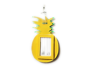 Yellow Pineapple ~ Travel Suitcase ID Luggage Tag and Suitcase Label