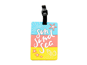Travel Suitcase ID Luggage Tag and Suitcase Label - Sun Sand Sea