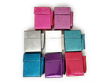 Kingsize Glitter Cigarette Case With Lighter Pouch