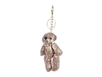 Colorful & Fun Plush Bear Bag Accessory Keychain