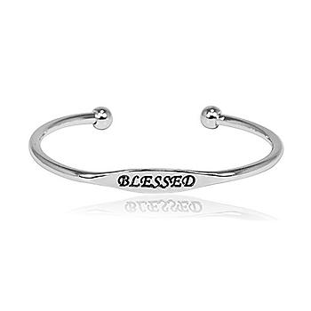 Blessed Metal Cuff Bracelet