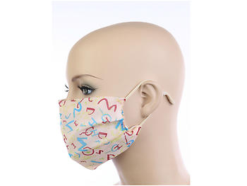 Fashionable Cotton Face Mask Reusable 2 Layers ~ Style 741D