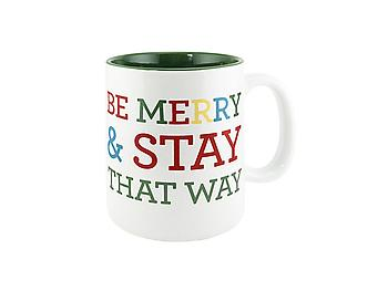 About Face Designs Be Merry and Stay That Way Mug