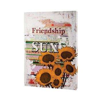 Friendship Brings the Sun Canvas Print on Wooden Frame