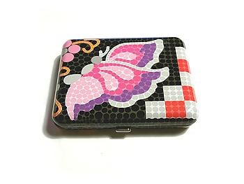 Butterfly Bright Bubble Design Fujima King Size Cigarette Case