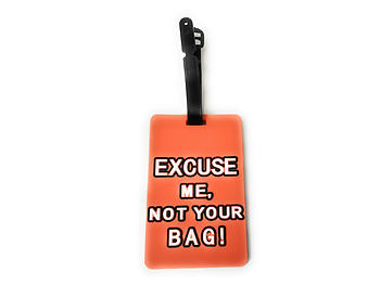 Orange Not Your Bag ~ Travel Suitcase ID Luggage Tag and Suitcase Label