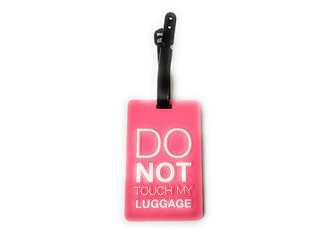 Pink Do Not Touch ~ Travel Suitcase ID Luggage Tag and Suitcase Label