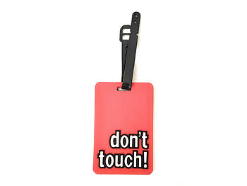 Don't Touch ~ Travel Suitcase ID Luggage Tag and Suitcase Label