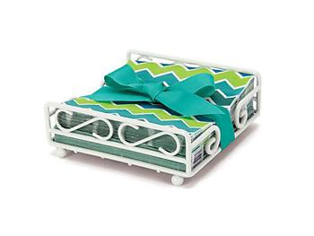 Chevron Beverage Napkin Holder Gift Set