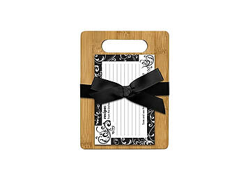 Black & White Cutting Board Gift Set W/Scripture