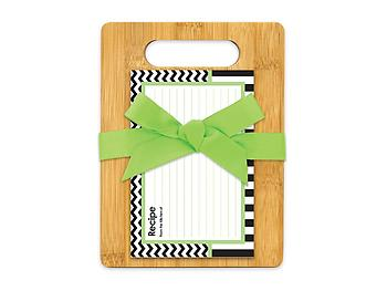 Black White & Green Cutting Board Gift Set