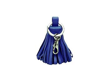 Blue Tassel Keychain Made With 100% Genuine Leather
