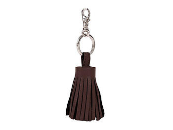Brown Tassel Keychain Made With 100% Genuine Leather
