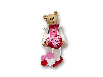 Belly Bear Sweetheart Boy Figurine for Valentine's Day