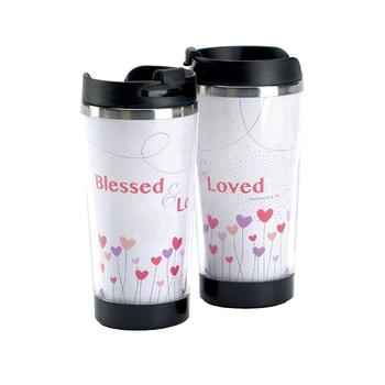9.5 oz Boxed Travel Mug ~ Blessed & Loved
