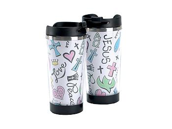 9.5 oz Boxed Travel Mug ~ Doodles